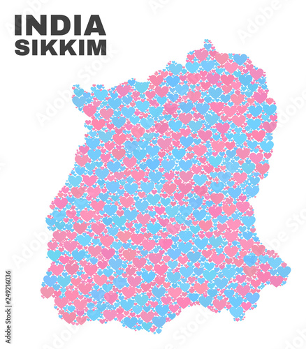 Mosaic Sikkim State map of lovely s in pink and blue ... on bengal state map, haryana state map, andhra state map, gujarat state map, orissa state map, georgia state map, alaska state map, rajasthan state map, maharashtra state map, karnataka state map, bihar state map, kerala state map, jaipur state map, tamil nadu state map, myanmar state map, jharkhand state map, japan state map, telangana state map, ireland state map, uttaranchal state map,