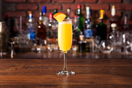 Vodka Orange Juice Mimosa Cocktail