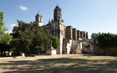 The Parroquia de Nuestra Señora de la Nativiad, located in the Ex-convent of Dominico de la Natividad, a World Heritage Site., Tepoztlan, Morelos, Mexico