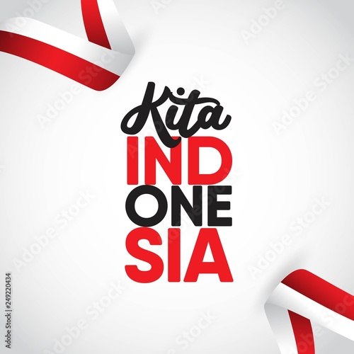 c68de8801223 Kita Indonesia Vector Template Design Illustration