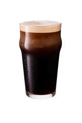 Obraz Refreshing Dark Stout Craft Beer on White - fototapety do salonu