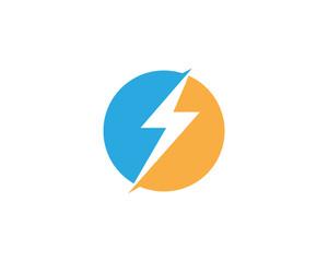 Flash thunderbolt Template vector icon illustration design