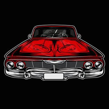 Colored Lowrider Car