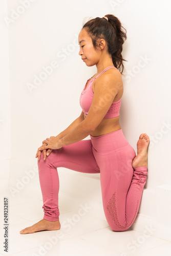 Filipina young girl yoga pants