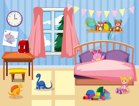 A kids bedroom interior