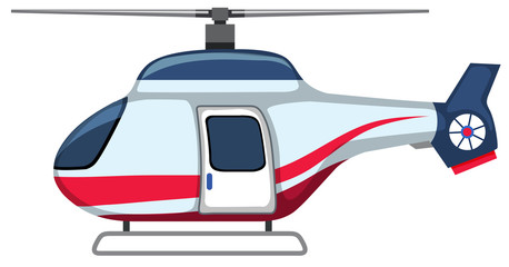 A cartoon helicopter on white background