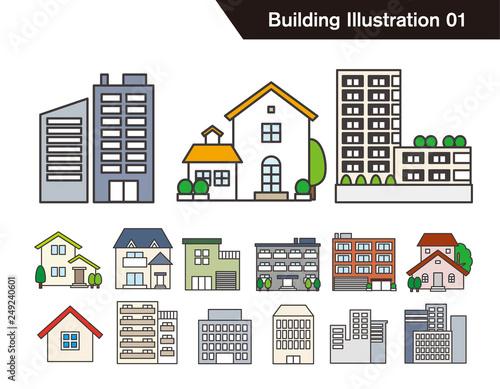 建物のイラストセットfotoliacom の ストック画像とロイヤリティフリー