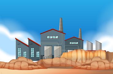 An industrial factory scene