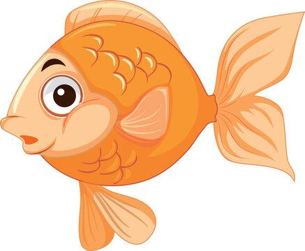 A cute goldfish character
