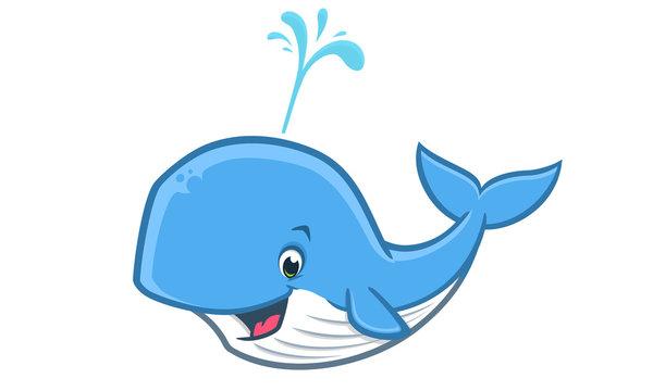 Cartoon Happy Whale