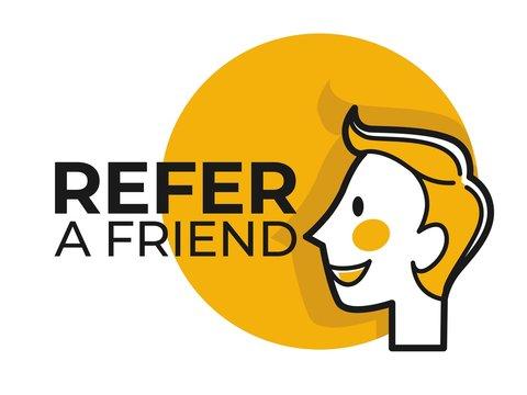 Refer friend share information social media function