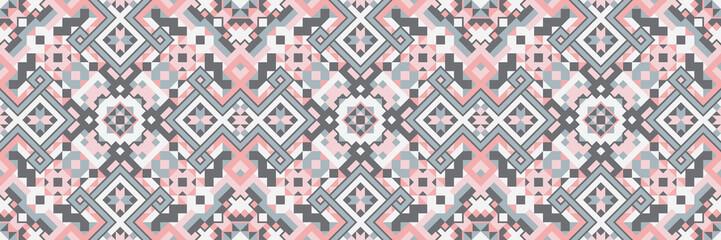 Geometric Ethnic Style Vector Seamless Pattern