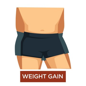 Wait gain overeating overweight obesity isolated male body