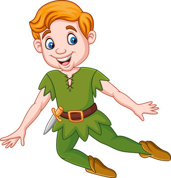 Cartoon funny peter pan