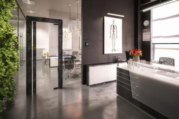 Office Design: Entrance Area - 3d visualization
