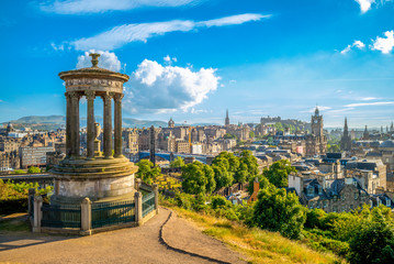 landscape of calton hill, edinburgh, uk Wall mural