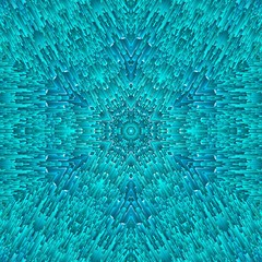 abstract blue ice pattern symmetry. seamless.