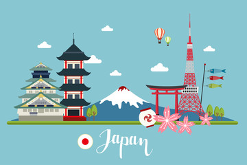 Japan travel landscapes