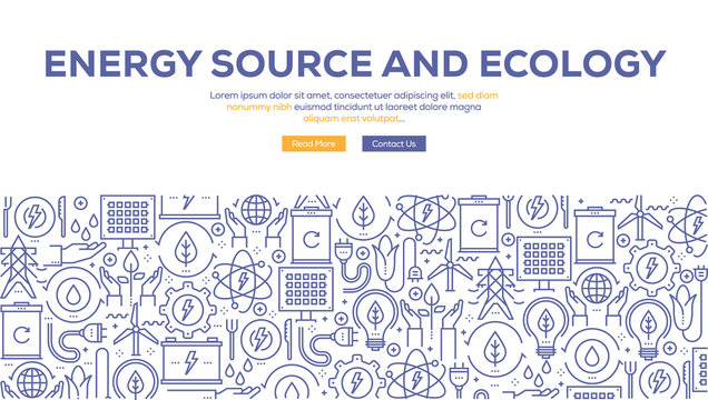 ENERGY SOURCE AND ECOLOGY BANNER CONCEPT