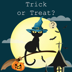 Halloween background with Trick or Treat text.