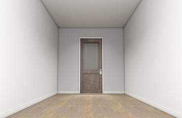 Empty Room And Office Door