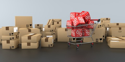 Shopping Cart Discount Shipping Cartons