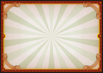 Vintage Blank Circus Poster Sign/ Vintage Blank Circus Poster Sign