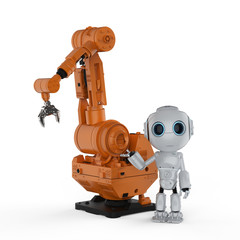 robot with robotic arm