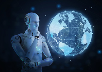 robot with global connection
