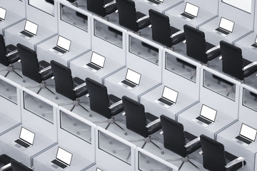 office cubicle or workspace