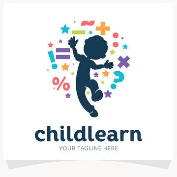 Kids Learning School Logo Design Template Inspiration