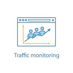 Website traffic color icon