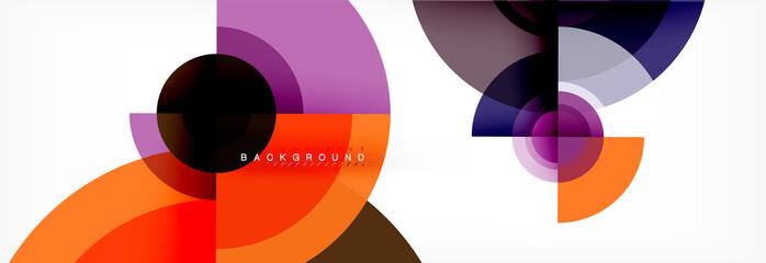 Fototapete - Geometric circle abstract background, creative geometric wallpaper.