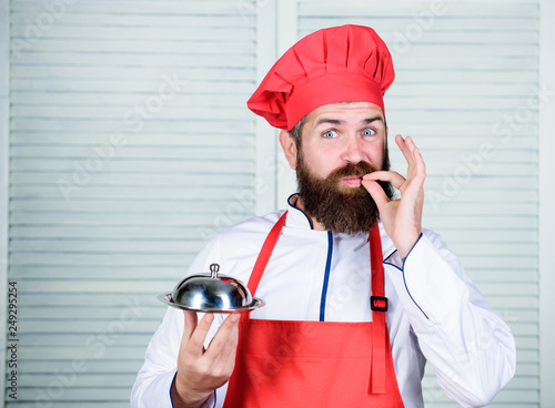 ebbba21df81 Mature hipster with beard. Dieting organic food. Happy bearded man. chef  recipe. just perfect