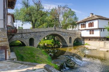 Old bridge (also called hunchback bridge) on the Trevnenska river in the town of Tryavna