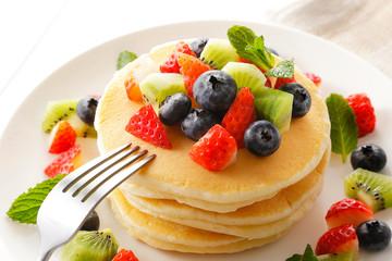 フルーツパンケーキ Fruit pancake