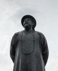 A statue of Lin Zexu at Chatham Square in Chinatown, New York City, USA
