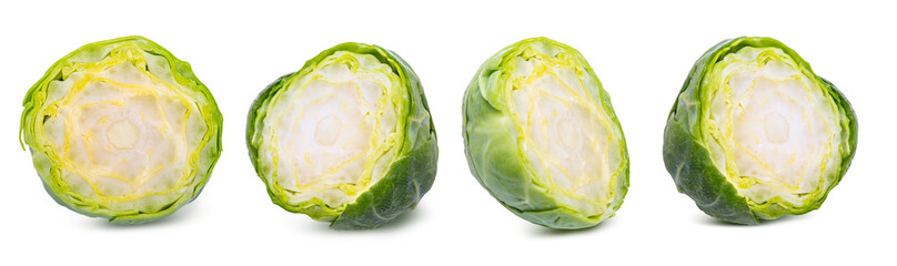 Photo sur cadre textile Bruxelles Group of fresh brussels cabbage