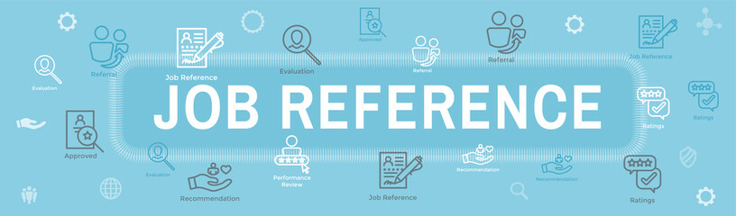 Referral Job Reference Web Header Banner and Icon Set