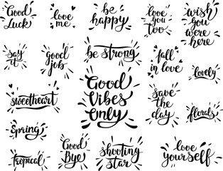 Lettering. Motivational quotes