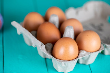 Eggs , Easter and Breakfast Concept