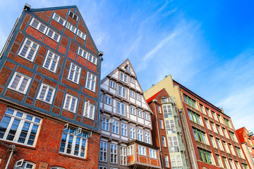 Altstadt, Hamburg old town, Germany