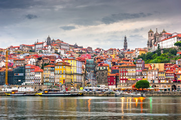 Porto, Portugal old city skyline
