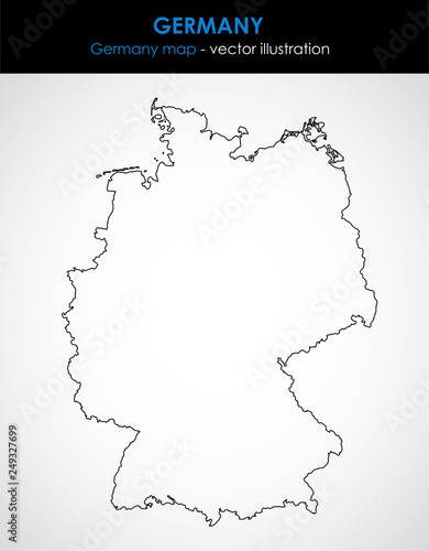 Map Of Germany Outline.Germany Map Of The Country Outline Graphic Vector Illustration