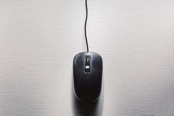 Black Computer Mouse on Table