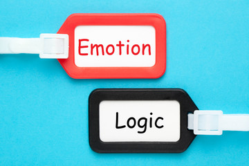 Logic Or Emotion Concept Wall mural