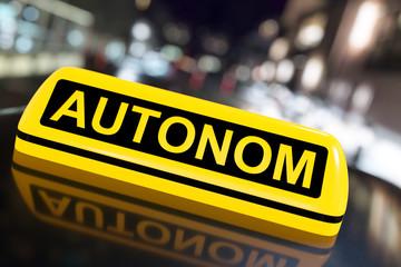 3D Illustration autonomes Fahren