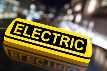 3D Illustration Electric Car