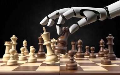 3D Ilustration künstliche Intelligenz Schach