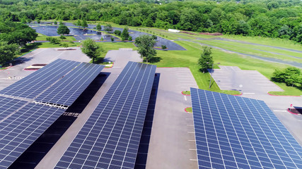 roof Solar panels in empty parking